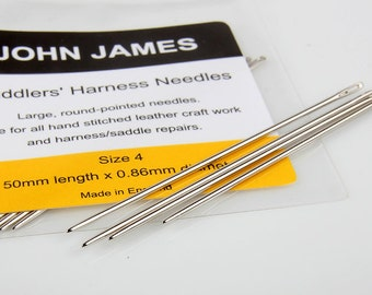 Saddlers needles Aiguilles Selliers, Leather Hand Sewing Needles, JOHN JAMES Leather craft tools MLT-P00000MU