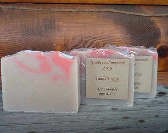 Island Escape, Homemade Soap, Handmade, Cold Process  Soap