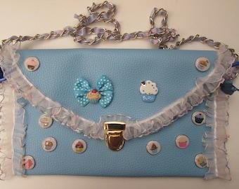 Aliza Bag Handmade Blue Cupcakes