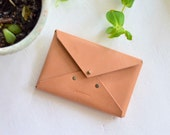 Leather Envelope Clutch, engraved clutch, leather clutch, iphone wallet, wedding clutch, bridesmaid clutch