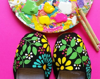 Custom Hand Painted Mary Janes Made to order