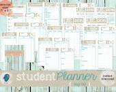 """PRINTABLE/EDITABLE (fillable) Student Planner (Big Kit) Filofax Personal Size (3.7""""x6.7""""): INSTANT Download!!!"""