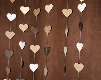 garland. Paper garland. gold. heart paper garland. wedding decor. baby shower decor. home decor.