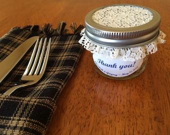 12-Mason Jar Favors...Elegant favors for wedding or bridal showers.