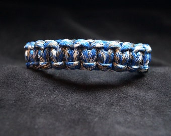 Paracord Bracelet Color is Camo - Dark Blue
