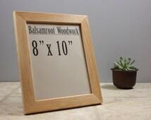 8 x 10 Oak Frame, Wood Craft Photo Frame, Document Frame, Hand Made Frame, Wood Working, Modern Wood Frame, Hanging Wall Frame, Mother Gift