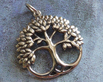 Tree Of Life Pendant ~ Sterling Silver ~ 23mm x 22mm