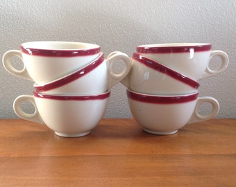 Two (2) Homer Laughlin Restaurant Coffee Tea Hot Chocolate Cups