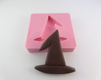 Big Witch hat Halloween mold. Flexible Silicone Molds  - Polymer Clay Resin - Chocolate - Fondant -Natu mold