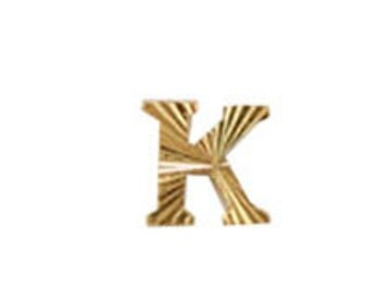 Metal Alphabet Letter K (12pcs)