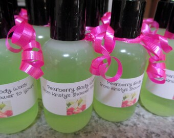 24 personalized body wash shower favors bridal shower favors baby shower favors party favors pearberry shower gel bath and beauty fwb