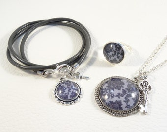"Jewelry set ""Damask Grey"""