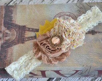Vintage Ivory Lace Headband