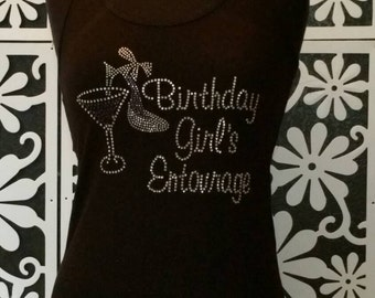 Birthday girl's entourage tank
