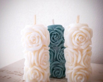 Wedding Favours, Candle Favours, Rose Candle, Mini Candles, Pillar Candles, Perfect Wedding favour, Wedding Gifts, Soy Wax Candle, Unscented
