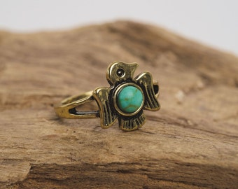 Native 'Cherokee Thunderbird' Ring