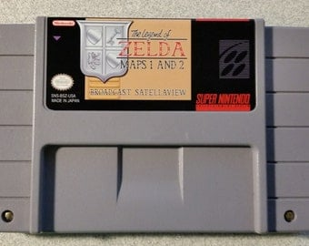 BS Zelda: Maps 1 and 2 SNES English Super Nintendo
