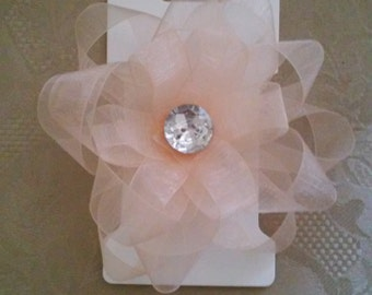 Organza flower bow
