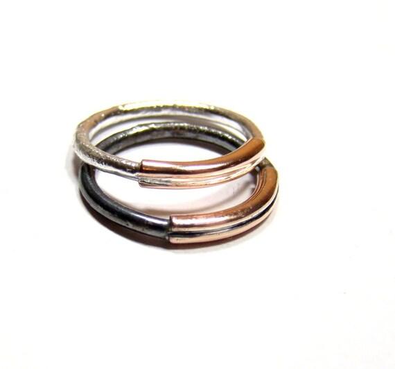 simple minimalist rings sterling silver 925 and by dawidpandel
