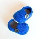 CROCHET PATTERN - Granpa Slippers - Crochet Baby Booties - Crochet Baby Shoes - Instant Download