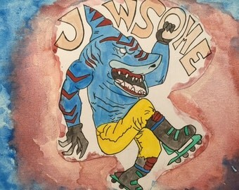 JAWsome Street Sharks watercolor