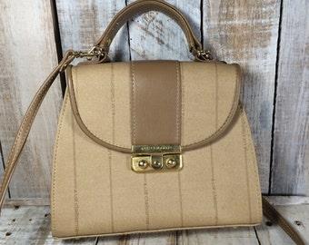 Liz Claiborne Bag, Liz Claiborne Purse, top handle bag, satchel bag, shoulder bag, tan purse, taupe bag, taupe purse, taupe handbag