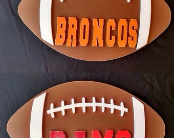 Wood football door/wall hanger