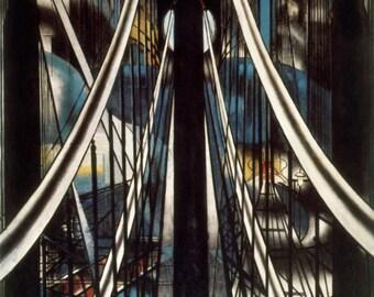 The Brooklyn Bridge by Joseph Stella Home Decor Wall Decor Giclee Art Print Poster A4 A3 A2 Large Print FLAT RATE SHIPPING