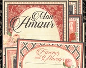 Graphic 45 Mon Amour Ephemera, SC007564