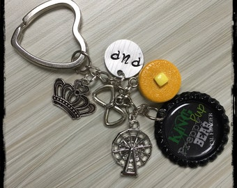BOOK INSPIRED Key Chains Keychain Key Chain inspired by King by TM Frazier T.M. Brantley King Tyrant Preppy Bear