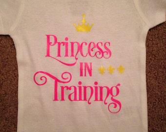 Princess in training bodysuit - baby girl clothing