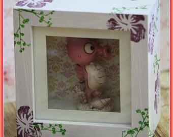 krokuss handpainted ROOMBOX for little cute stuff! So lovely!