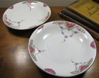 Victoria China - Shallow Bowls - Set of Two (2) - Made in Czechoslovakia