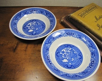 "Two (2) ""Blue Willow"" Dessert Bowls"