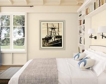 Vintage Galilee ~ Point Judith, Narragansett, Rhode Island, Beaches, Waves, Coastal Decor, Nautical Photograph, New England
