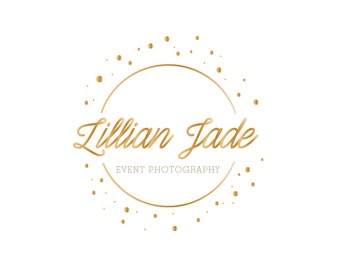 Custom Premade Logo Design - Elegant Gold Circle Logo Design
