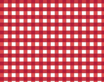 Red Medium Check Fabric by Riley Blake