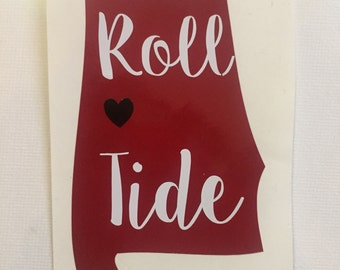 "Alabama ""Roll Tide"" State Decal - College Decal"