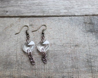 Vintage style earrings with chandelier pieces