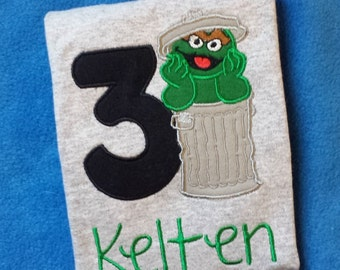Oscar the Grouch Sesame Street Birthday Shirt