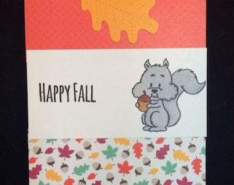 Happy Fall Squirrel Greeting Card
