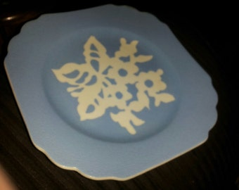 vintage harker cameoware pottery plate 1940's