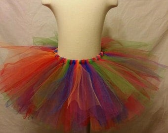 Child and Teen Festive Rainbow Tutu
