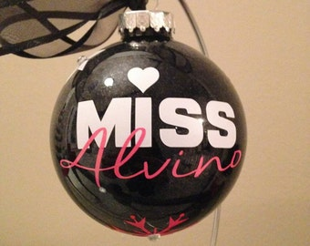 Personalized Rhinestone Snowflake Christmas Ornament