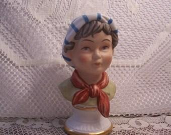 Little Boy Bust Figurine