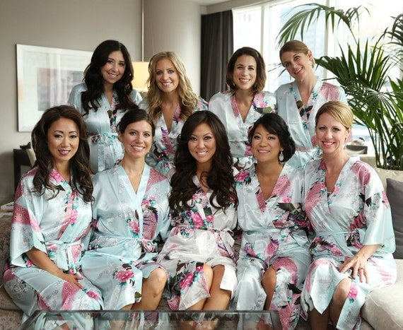 Wedding Party Gifts Uk: CD1 Bridal Party Gifts Ideas Girls Bathrobes Mens Robe