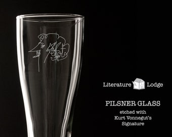 Pilsner Glass: Kurt Vonnegut