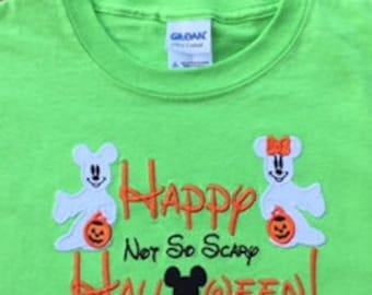 Disney Ghost Halloween Applique Shirt
