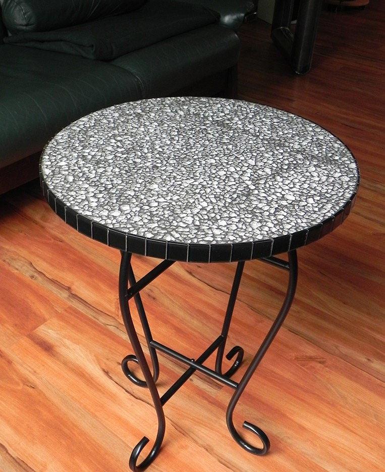 Glass Mosaic Coffee Table Side Table Plant Stand By