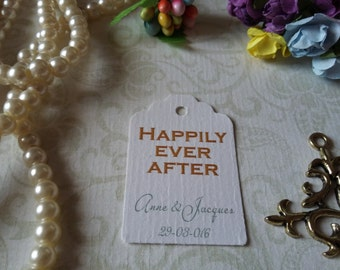 Happily ever after Tag. Fairy Tale Tags. Set of 25 to 300 pieces, Mini tag